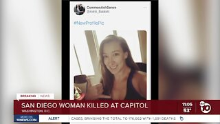 San Diego woman shot, killed inside U.S. Capitol during riot