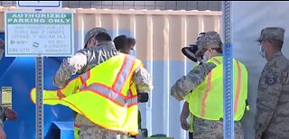 Nevada National Guard supporting curbside testing site