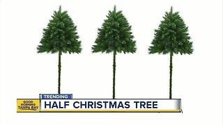 People are buying half Christmas trees