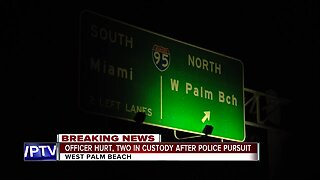 Officer injured during pursuit in West Palm Beach