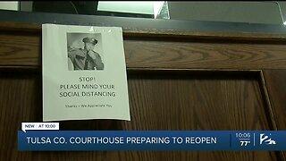 Tulsa County Courthouse prepares to reopen Monday