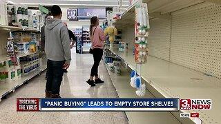 """""""Panic Buying"""" amid the Coronavirus leads to empty store shelves"""