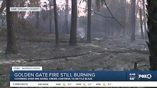 Golden Gate fire still burning