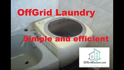 OffGrid Life and Laundry. A low energy method for washing clothing