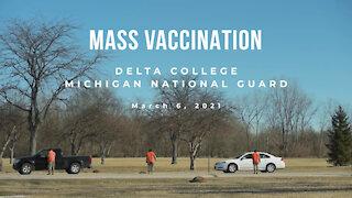 Michigan National Guard COVID-19 Mass Vaccination at Delta College