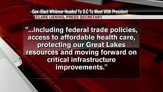 Gov.-elect Gretchen Whitmer to meet with President Trump on Thursday