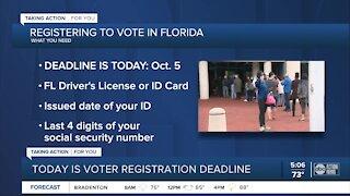 Florida's deadline to register to vote Monday, Oct. 5