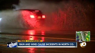 Rain totals highest in North County