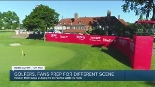 Golfers, fans prep for Rocket Mortgage Classic