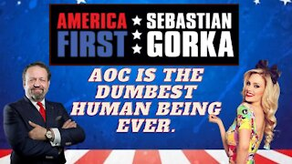 AOC is the dumbest human being ever. Nicole Arbour with Sebastian Gorka on AMERICA First