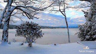 NH Lakes Region Winter Scenery