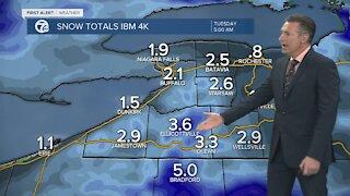7 First Alert Forecast 5:00 a.m. Update, Monday, February 22
