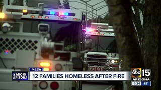 12 families displaced after fire in Mesa