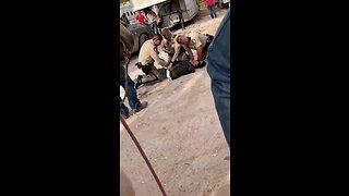 Cowboys help arrest suspected thief