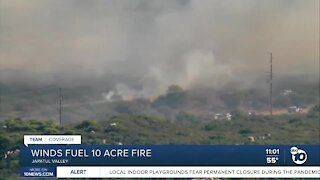 Fire in Japatul Valley burns 10 acres, injures firefighter