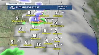 Breezy, chilly start to the week