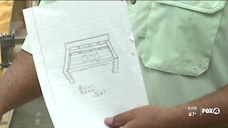 LaBelle High School class remaking Julian Keen's memorial bench