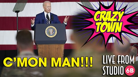 YIKES! What the hell is Biden trying to say to the troops?! (Crazy Town)