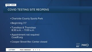 Charlotte County testing site to reopen