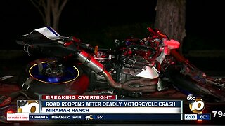 Motorcyclist killed in Miramar Ranch area crash