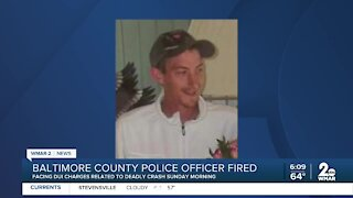 Baltimore County police officer fired