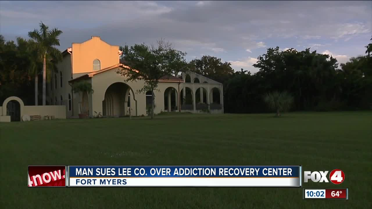 Man sues Lee County over addiction recovery center in Fort Myersi i