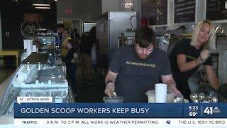 Golden Scoop workers keep busy