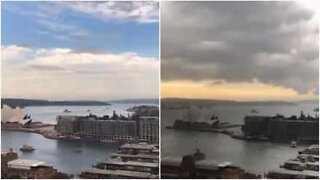 Timelapse shows looming storm over Sydney