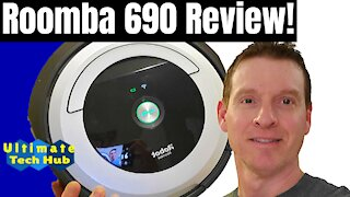 iRobot Roomba Automatic Vacuum Cleaner - Roomba 690 Review & Testing! Older Model Review!