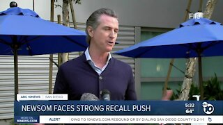 Newsom faces strong recall push