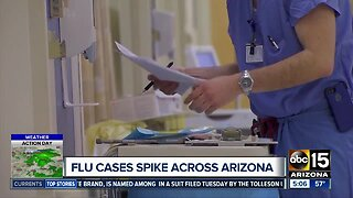 Flu cases spike in Arizona