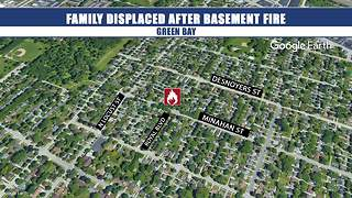 Family displaced after basement fire
