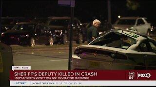 Sheriffs deputy killed in crash