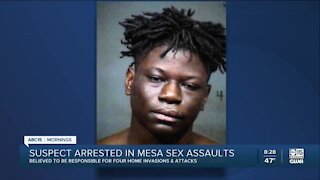 Suspect arrested after string of sex assaults