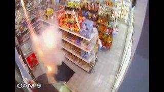 Man lights box of fireworks inside Detroit gas station causing damage to property