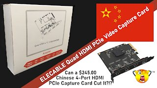 DrBill.TV Special - ELECABLE PCIe 4-Port HDMI Video Capture Card Install and Test!