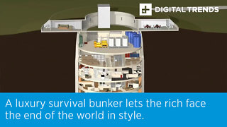 A luxury survival bunker lets the rich face the end of the world in style.
