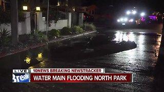Water main floods North Park