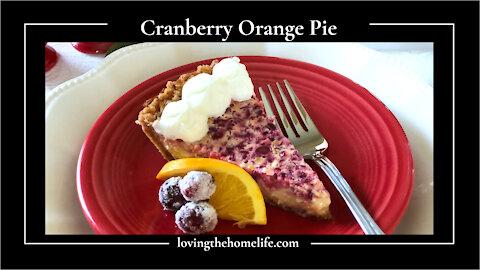 Cranberry Orange Pie