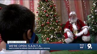 Santa Claus actor adds safety measures in socially distanced visits