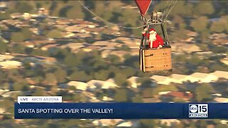 Santa makes appearance over the Valley in hot air balloon