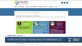 Hernando pushes back first day of school amid coronavirus concerns