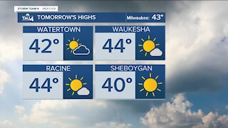 Wednesday morning warms up with lows near 30