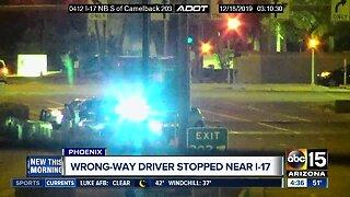 Wrong-way driver stopped along I-17