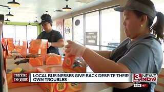 Local businesses give back despite their own troubles