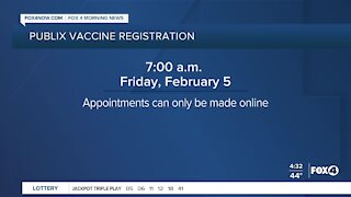 Publix vaccine appointments pushed back one hour