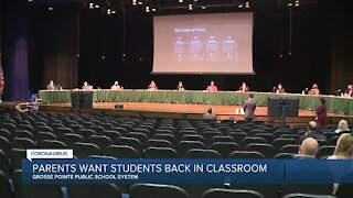 Parents push for in-person learning in Grosse Pointe schools during school board meeting