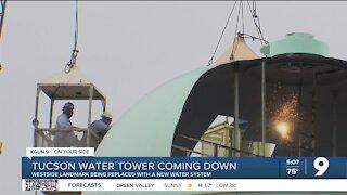 Tucson Water begins demolition of Valencia Standpipe