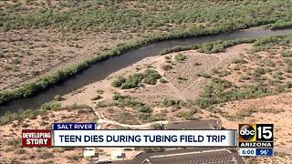 Teen drowns during Salt River tubing trip