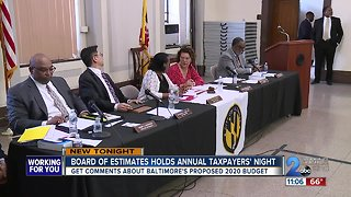 City Board of Estimates hosts Annual Taxpayers' Night